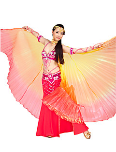 Bela atuação de poliéster Belly Dance Isis Asa Para a Mulherada