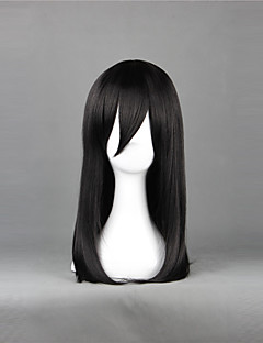 Cosplay Wigs Attack on Titan Mikasa Ackermann Black Medium Anime Cosplay Wigs 50 CM Heat Resistant Fiber Female