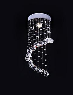 Artistic Crystal 1 Light Flush Mount In Arc Design