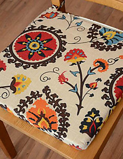 Modern Style 100% Katoen Multi-color Floral Pattern Chair Pad