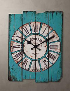 """H15 """"Țară stil albastru Ceas de perete"""