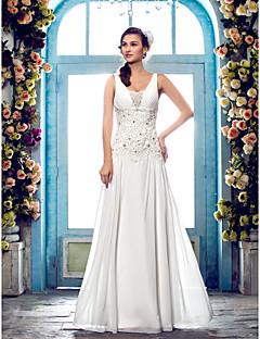 Lanting Bride® Sheath / Column Petite / Plus Sizes Wedding Dress - Classic & Timeless / Elegant & Luxurious Fall 2013 / Spring 2014