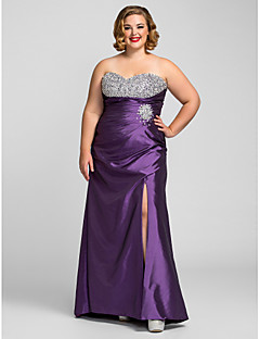 TS Couture Formal Evening / Prom / Military Ball Dress - Grape Plus Sizes / Petite Sheath/Column Sweetheart Floor-length Taffeta