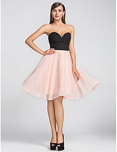 Cocktail Party / Homecoming / Wedding Party Dress - Plus Size / Petite A-line Sweetheart Knee-length Chiffon