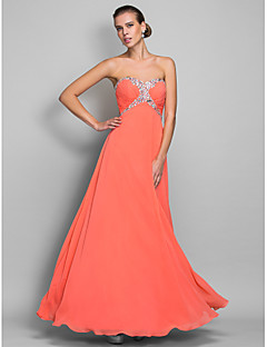 Formal Evening/Prom/Military Ball Dress - Watermelon Plus Sizes A-line Sweetheart Floor-length Chiffon