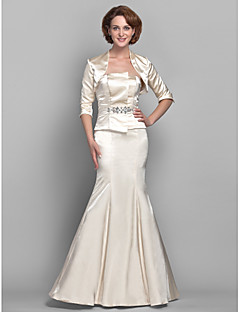 Trumpet / Mermaid Hourglass / Inverted Triangle / Pear / Rectangle / Plus Size / Petite / Misses Mother of the Bride Dress Floor-length