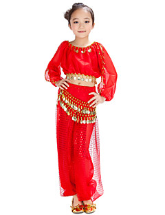 Belly Dance Outfits Children's Chiffon Coins / Sequins