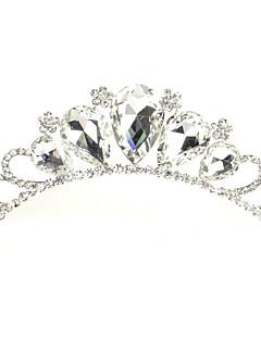 Vrouwen Bergkristal / Licht Metaal Helm-Bruiloft / Speciale gelegenheden Tiara's Zoals de Afbeelding