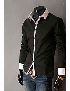 Kailuo Einfache Lässige Long Sleeve Slim-Shirt (schwarz)