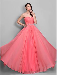 Formal Evening/Prom/Military Ball Dress - Watermelon Plus Sizes Sheath/Column Sweetheart Floor-length Chiffon