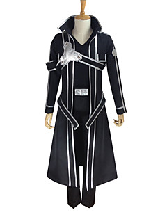 Inspired by Sword Art Online Kirito Anime Cosplay Costumes Cosplay Suits Solid Long Sleeve Coat Pants Gloves Belt T-shirt Strap(B Type) For Male