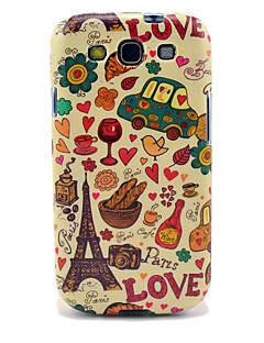 Eiffelov toranj i kruh Sjajni TPU Case za Samsung Galaxy S3 I9300