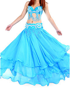 Belly Dance Skirts Women's Training Chiffon Natural
