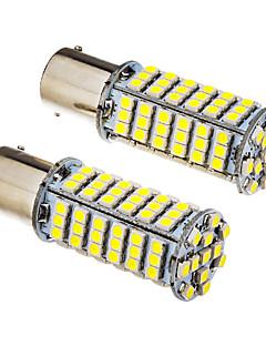 2 PC 1156 BA15S 5W 102x3528SMD 420-450LM 6000K frío Bombilla LED de luz blanca (12V)