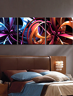 Toiles tendues Art abstrait Fantastique Fleur Set de 3