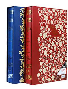 "Goldene Blumen Vergoldung Buch 3 ""* 5"" Fotoalbum (300 Tasche)"