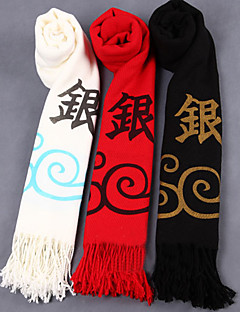 Cosplay Accessories Inspired by Gintama Gintoki Sakata Anime Cosplay Accessories Scarf White / Black / Red Polyester / Wool Male