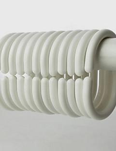 Douchegordijn Haken, High Class Modern Wit ovale vorm (12 pack)
