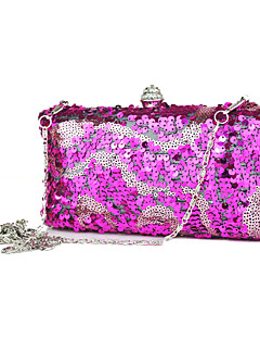 Attractive Metal With Rhinestone Sequins Clutches/Evening Handbags(More Colors)