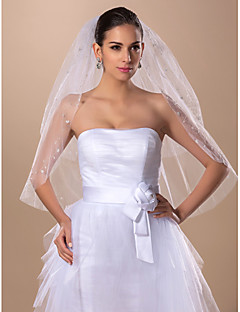 Wonderful Two-tier Elbow Wedding Veil(More Colors)