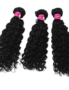 "5A Brazilian virgin remy Natural deep  wave Human Hair Weft Extensions 12""+14""+16"""