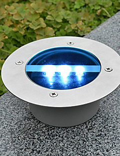 Solar Power Round Recessed Deck Dock Pathway Garden LED Light(CIS-57246)
