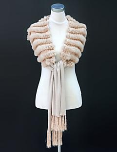 Rex Rabbit Fur partito / Sciarpe casuali con nappe (altri colori)
