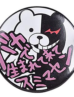 Jewelry Inspired by Dangan Ronpa Monokuma Anime/ Video Games Cosplay Accessories Brooch White / Black / Purple PVC Male