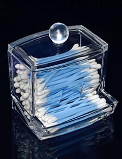 Acrylic Transparent Drawer Shaped Swab Box Cosmetics Storage Drawer Cosmetic Organizer