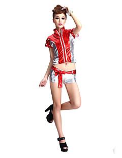 Punk Girl Red & Silver Damen-Nachtclub Sexy Uniform
