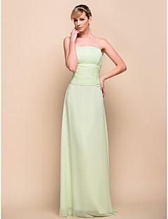 fiesta de la dama de honor sin tirantes de gasa palabra de longitud / vestido de boda 929968