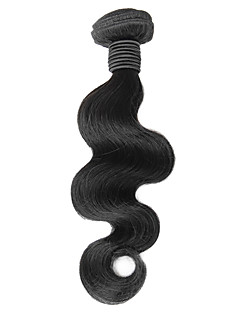 1pcs 16inch Preto Natural onda do corpo peruano Virgin cabelo Weave
