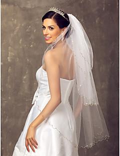 Tre-tier fingerspids Wedding Veil