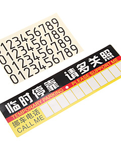 temporary parking sign
