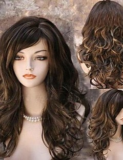 Capless Long Straight Black Synthetic Wig Side Bang