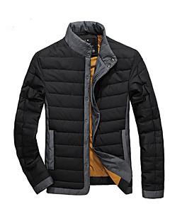 GUYIQI Men's Fashion Stand Collar dik katoen Jacket (Blauw)