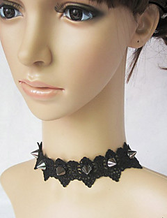 Lolita Jewelry Punk Lolita Necklace Lolita Silver / Black Lolita Accessories Necklace Lace For Women Lace / Alloy