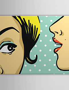 Stretched Canvas Art Pop Art People Young Lady Ready to Hang