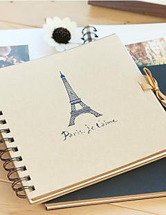 Toren Pattern Brown Paper Photo Album (meer kleuren)