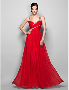 TS Couture® Prom / Formal Evening / Military Ball Dress - Open Back Plus Size / Petite Sheath / Column Straps Floor-length Chiffon with Beading