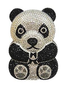 Panda  Bear Animals Evening Metal Purse Bag Handbag