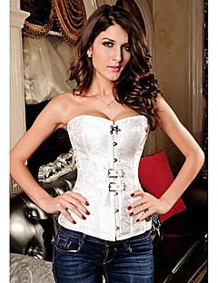 Women Overbust Corset Nightwear Solid Polyester / Spandex Women's