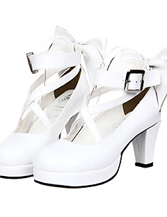 Lolita Shoes Classic/Traditional Lolita Princess High Heel Shoes Bowknot 7 CM White For Women PU Leather/Polyurethane Leather