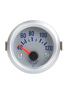 Vattentemperatur Meter Gauge med sensor för automatisk bil 2 52mm 40 ~ 120Celsius Degree orange ljus