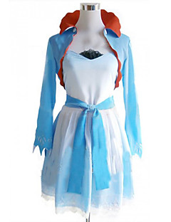 Inspired by RWBY Weiss Schnee Anime Cosplay Costumes Cosplay Suits / Dresses Patchwork White / Blue Coat / Dress