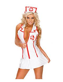 Sexy Krankenschwester Kostüm Polyester Weiß (2 Stück)