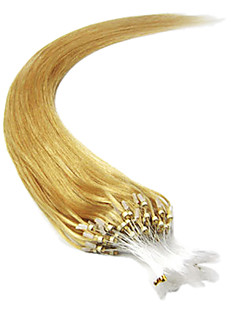 20Inch 1Pcs Loops Micro Rings Beads Tipped Straight Hair Extensions More Light Colors 100s/pake 0.5g/s
