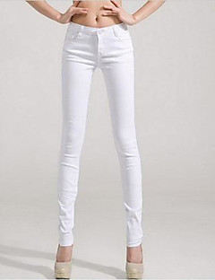Kvinnors Solide Color Skinny Pants