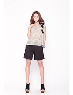 Zoely Женская Простой Залп Повседневная черные шорты 101122K017