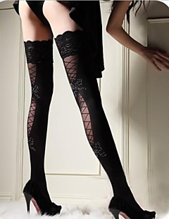 Dámská Lace Velvet stehna punčochy